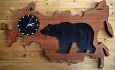 """Купить часы """"Моя Россия"""" - коричневый, часы настенные, натуральное дерево, подарок, дерево"""