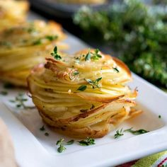 Asiago Potato Stacks