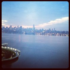 NYC Skyline from the W in Hoboken thedigestonline.com #hoboken #thedigest