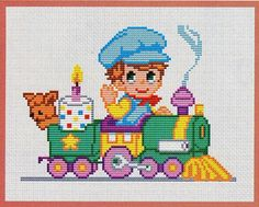 Baby Cross Stitch Patterns, Cross Stitch For Kids, Cross Stitch Borders, Cross Stitch Baby, Cross Stitch Charts, Cross Stitching, Cross Stitch Embroidery, Crochet Baby Toys, Kids Patterns