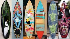 More than 20 surfboards-turned-artworks are on display around Morro Bay, Calif., in the town's first such public art on display through November. The Surfboard Art Festival features boards that have been painted to convey familiar scenes in the Central Coast town, wildlife and even strands of kelp.
