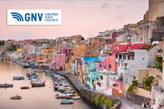 #Sunrise over #LaCorricella, small fishermanns village on the #Island #Procida near #Naples, #Italy.  Discover #GNV routes from/to #Napoli here: www.gnv.it/en