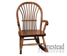 Bow Sheaf Child's Rocker. http://www.homesteadfurnitureonline.com/youth-furniture_bow-sheaf-654-rocker.html