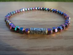 Check out this item in my Etsy shop https://www.etsy.com/listing/218135642/mens-multicolor-hematite-bracelet