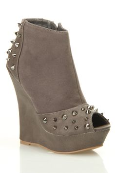 Grey Studded Wedge - I'm not into studs but I dig these