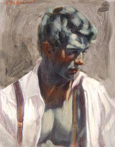 'Man in Suspenders' by Bruce Sergeant.