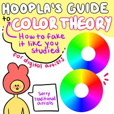 """3,044 Likes, 51 Comments - Zoee 18 (@hoopla_art) on Instagram: """"Hoopla's Guide to {How to Fake it Like You Studied} Color Theory for Digital Artists"""""""