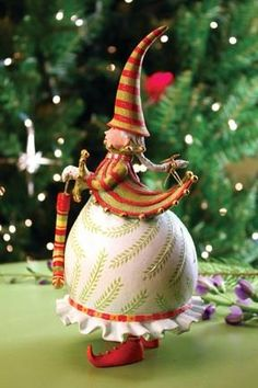 Mrs. Santa with Stocking Figure