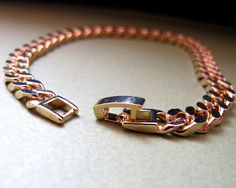 Safety Clasp Mens Gold Bracelet - Chain  Bracelet for Men