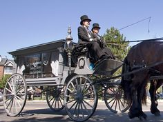 A horse drawn hearse carries a casket to the graveyard in Newark, N.J. Looking at this photo, it's easy to see why hearses have always been considered a little spooky and mysterious.