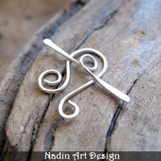 Sterling Silver Toggle Clasp for Necklaces. Swirl Toggle Clasp