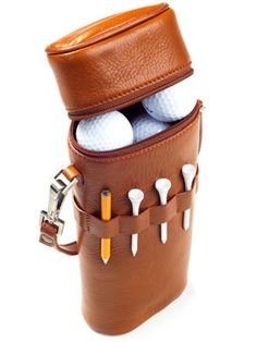 Cool Gifts for Dad: Like the man-equivalent of a Birkin, this luxe carrying case will make all the other dads green-as-a-golf-course with jealousy.