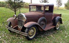 Basic Hauler: 1930 Ford Model A Pickup Vintage Pickup Trucks, Antique Trucks, Old Trucks, Lifted Trucks, Vintage Cars, Ford Classic Cars, Classic Trucks, Chevrolet Trucks, 1957 Chevrolet