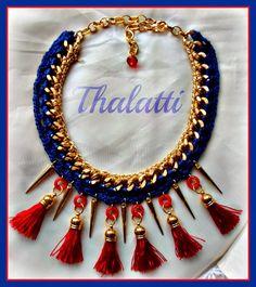 Θαλάττη: Statement necklace: Blue and red