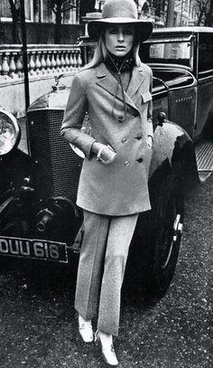 Jill Kennington by David Montgomery, Vogue UK March 1967