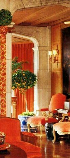 Orange Home Decor, Orange House, Rooms, Interior Design, Luxury, Chic, Brown, Color, Style