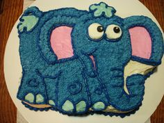 Blue elephant cake