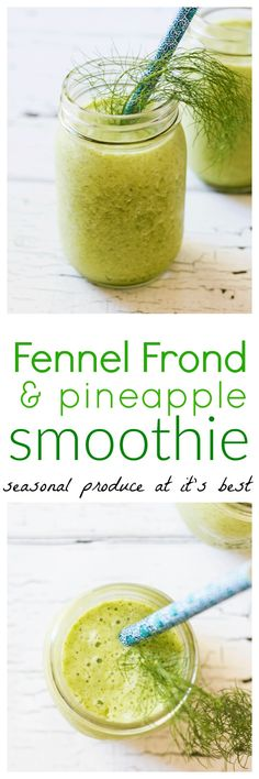 Hang onto those amazing and fragrant fennel fronds to whip up these delightful and refreshing fennel frond and pineapple smoothies. Pure seasonal indulgence via @wholefoodbellies