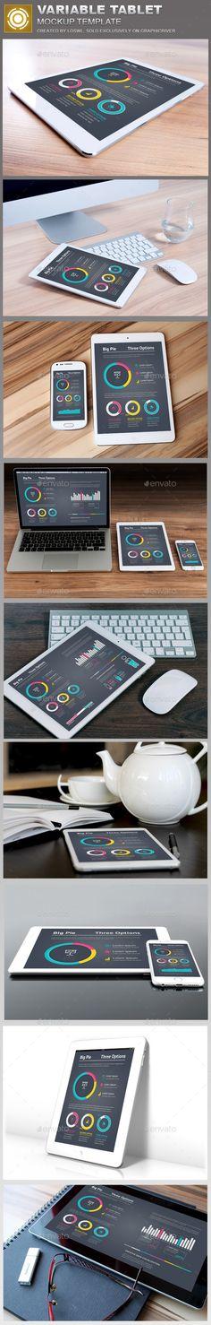 Variable Tablet Mockups #desgn Download: http://graphicriver.net/item/variable-tablet-mockups-template/12593943?ref=ksioks