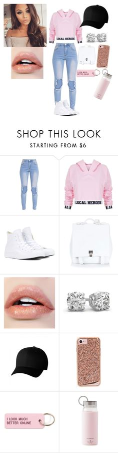"""Untitled #330"" by jada-aphrodite ❤ liked on Polyvore featuring Local Heroes, Converse, Proenza Schouler, Flexfit, Case-Mate, Various Projects and Kate Spade"