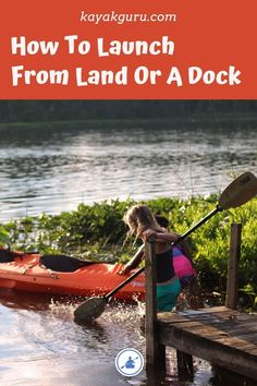 If you want to learn how to get into and out of a kayak from the land or a dock read our guide. We also cover getting in/out of your small boat when out on the water. Camping En Kayak, Kayak Fishing Gear, Canoe And Kayak, Camping And Hiking, Fishing Box, Fishing Pliers, Fishing Vest, Camping List, Crappie Fishing