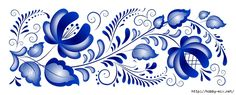 gzhel:blue and white motif Mosaic Designs, Stencil Designs, Folklore, Rosemaling Pattern, Decoupage Paper, Hand Embroidery Designs, Fabric Painting, Flower Art, Art For Kids