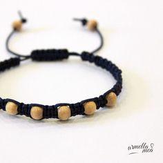Shamballa bracelet macrame bracelet wooden by ArmellaMeaJewelry