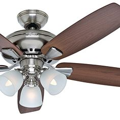 b94695d6037 Hunter Fan Brushed Nickel Finish with Medium Reversible Blades (Certified  Refurbished)