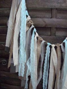 ft Rustic aqua garland, burlap garland, Wedding prop, home decor ...
