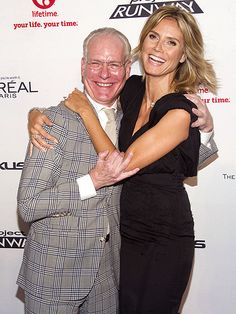 Heidi Klum and Tim Gunn share an ecstatic embrace Tuesday at a Project Runway bash in New York City, where they toasted the season of the design competition, which premieres Thursday on Lifetime. Tim Gunn, Power Couples, Star Track, Blue Ivy, Project Runway, Design Competitions, Inspiring People, Arts And Entertainment, Heidi Klum