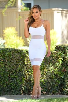 - Available in White and Black - Spaghetti Straps - Mesh Contrast - Made in USA - 95% Polyester 5% Spandex