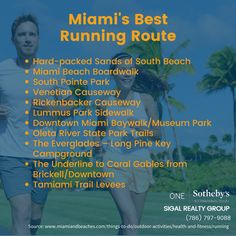 It's easy to stay #healthy in #Miami, there are abundant choices of running routes to choose from. Have you tried one of them?  Via @visitmiami