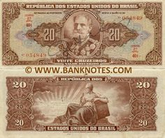 Brazilian Currency. Portrait of Marshal Manuel Deodoro da Fonseca. Back their is the proclamation of the republic. Representing Marshal Manuael to show that he helped the country.