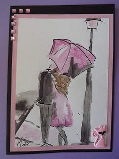 A Pretty Talent Blog: Cardmaking: Ink - Romantic Stroll Dip Pen, Watercolor Paper, Cardmaking, Arts And Crafts, Romantic, Ink, Crafty, Artist, Blog