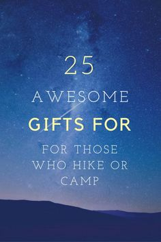 Awesome Gifts For Hikers and Campers Need a gift for your nature enthusiast? Here are my gift ideas for hikers and campers. Hiking Gifts, Great Christmas Gifts, Hiking Backpack, Campers, Best Gifts, Awesome Gifts, Gift Ideas, Backpacking, Alaska