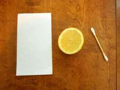 How To Make Invisible Ink - Lemon Juice