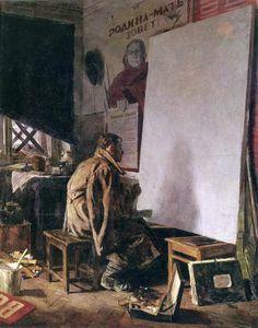 В дни войны - Коржев-Чувелев Г. М. :: Артпоиск - русские художники