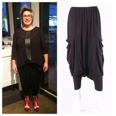 Catalyst W16  We love what Leigh has put together at the recent Evolve VIP evening. She is wearing the Obi Samurai Leather Zeb Top and the Super Slouch Pants from Chocolat. #weloveouretailers #supportnzmade #realnzleather