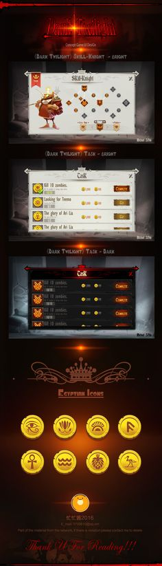 《Dark Twilight》Concept Game Ui Design by Michael 2016 on Behance