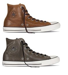 New Converse Chuck Taylor All Star brown green leather HI Men unisex Shoes   Converse   9d52094eb