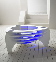 Futuristic Corian® Tables By Stuart Melrose