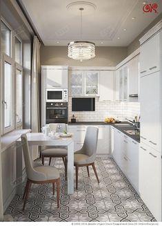 45 Scandinavian Kitchen Table For Your Home This Summer - Home Decor Ideas Grey Kitchen Floor, Kitchen Flooring, Home Interior, Interior Design Kitchen, Kitchen Layout, Kitchen Decor, Kitchen Tables, Kitchen Dresser, Kitchen Rug