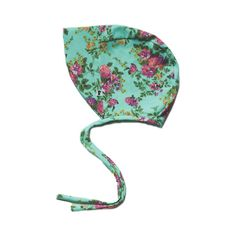Sun Bonnet - Flowers on Aqua - Little & Lively