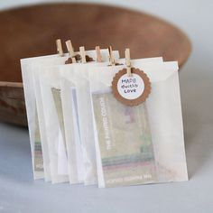 3 1/4 x 4 5/8 Glassine Bags set of 200 by leboxboutique on Etsy, $11.80. To hold the communion elements