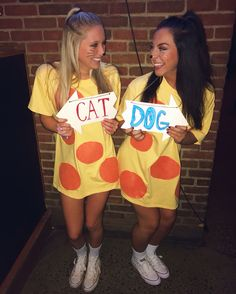 Cat dog costumes // college Halloween