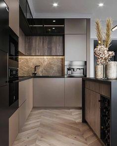 Modern Kitchen Interiors, Luxury Kitchen Design, Kitchen Room Design, Contemporary Kitchen Design, Home Room Design, Kitchen Cabinet Design, Home Decor Kitchen, Interior Design Kitchen, Home Kitchens