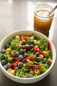 Blueberry Nut Salad with Sumac Dressing   Garlic, My Soul