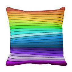 rainbow rays throw pillows