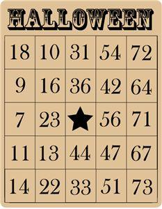 halloween bingo card - Google Search