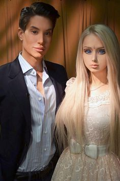 (freaky people) A MODEL who has turned herself into a living Barbie paired up with a real-life Ken — and they hated the sight of each other.